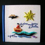 Variazione album il mare in feltro colori freddi